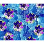 Purple Flowers Deluxe Canvas 14  x 11  14  x 11  x 1.5  Stretched Canvas