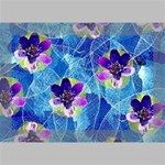 Purple Flowers Deluxe Canvas 18  x 12   18  x 12  x 1.5  Stretched Canvas