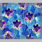 Purple Flowers Deluxe Canvas 24  x 20   24  x 20  x 1.5  Stretched Canvas