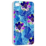 Purple Flowers Apple iPhone 4/4s Seamless Case (White) Front