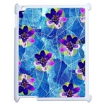 Purple Flowers Apple iPad 2 Case (White) Front