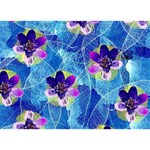 Purple Flowers LOVE Bottom 3D Greeting Card (7x5) Back