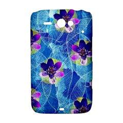 Purple Flowers HTC ChaCha / HTC Status Hardshell Case