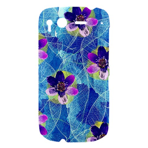 Purple Flowers HTC Desire S Hardshell Case
