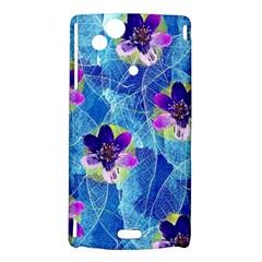 Purple Flowers Sony Xperia Arc