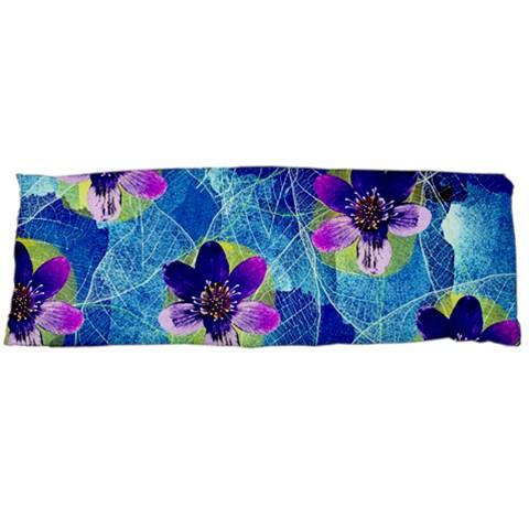 Purple Flowers Body Pillow Case Dakimakura (Two Sides)