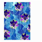 Purple Flowers Small Garden Flag (Two Sides) Front