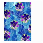 Purple Flowers Large Garden Flag (Two Sides) Back