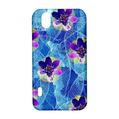 Purple Flowers LG Optimus P970