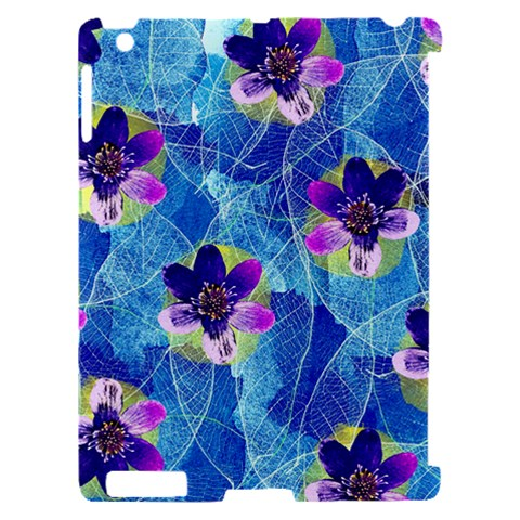 Purple Flowers Apple iPad 2 Hardshell Case (Compatible with Smart Cover)