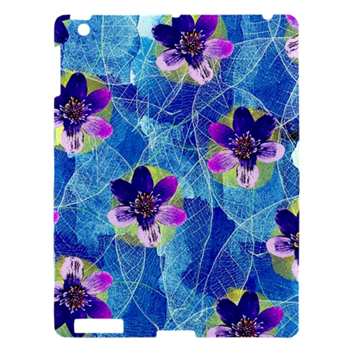 Purple Flowers Apple iPad 3/4 Hardshell Case