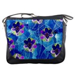 Purple Flowers Messenger Bags Front