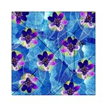 Purple Flowers Acrylic Tangram Puzzle (6  x 6 ) Front