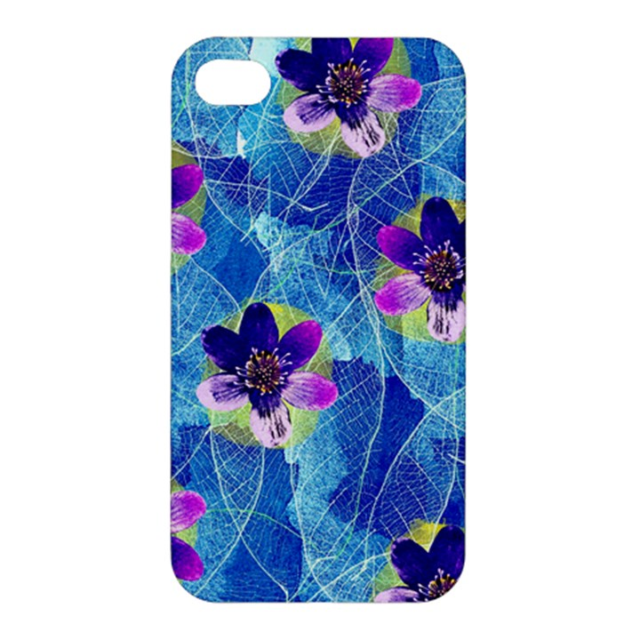 Purple Flowers Apple iPhone 4/4S Premium Hardshell Case
