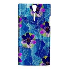 Purple Flowers Sony Xperia S