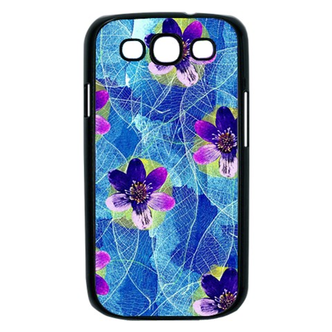 Purple Flowers Samsung Galaxy S III Case (Black)