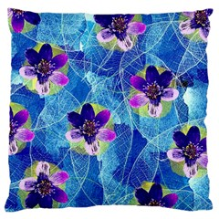 Purple Flowers Large Cushion Case (Two Sides)