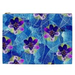 Purple Flowers Cosmetic Bag (XXL)  Front