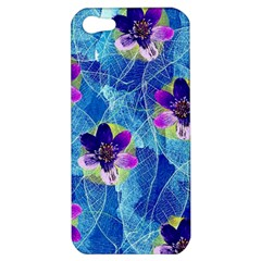 Purple Flowers Apple iPhone 5 Hardshell Case