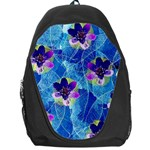 Purple Flowers Backpack Bag Front
