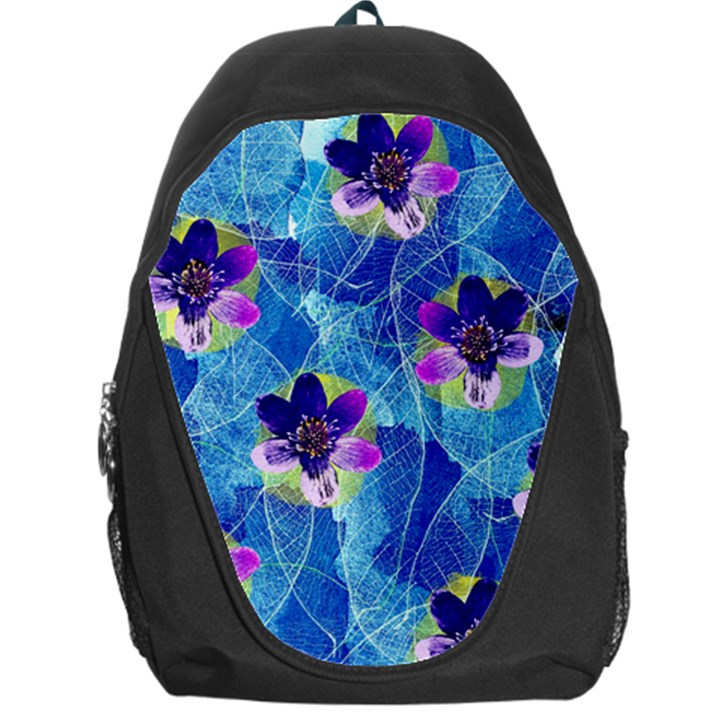 Purple Flowers Backpack Bag