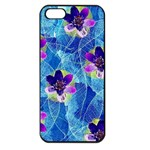 Purple Flowers Apple iPhone 5 Seamless Case (Black) Front