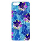 Purple Flowers Apple iPhone 5 Seamless Case (White) Front