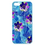 Purple Flowers Apple Seamless iPhone 5 Case (Color) Front