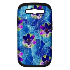 Purple Flowers Samsung Galaxy S Iii Hardshell Case (pc+silicone)