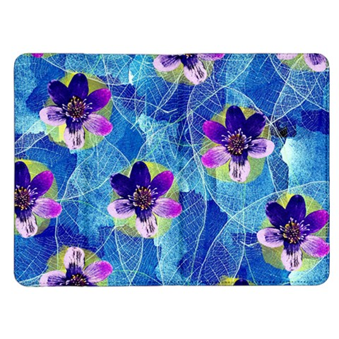 Purple Flowers Kindle Fire (1st Gen) Flip Case