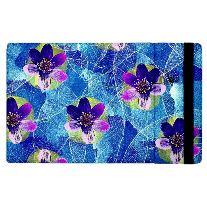Purple Flowers Apple iPad 3/4 Flip Case