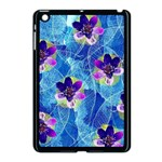 Purple Flowers Apple iPad Mini Case (Black) Front