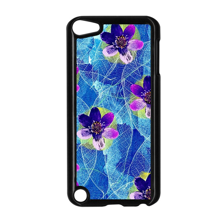 Purple Flowers Apple iPod Touch 5 Case (Black)