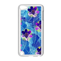 Purple Flowers Apple Ipod Touch 5 Case (white)