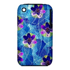 Purple Flowers Apple Iphone 3g/3gs Hardshell Case (pc+silicone)