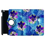 Purple Flowers Apple iPad 2 Flip 360 Case Front