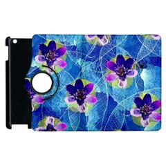 Purple Flowers Apple Ipad 3/4 Flip 360 Case