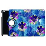 Purple Flowers Apple iPad 3/4 Flip 360 Case Front
