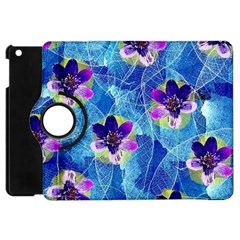 Purple Flowers Apple Ipad Mini Flip 360 Case