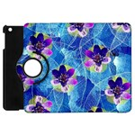 Purple Flowers Apple iPad Mini Flip 360 Case Front