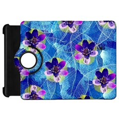 Purple Flowers Kindle Fire HD Flip 360 Case
