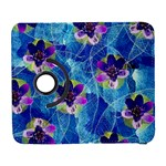 Purple Flowers Samsung Galaxy S  III Flip 360 Case Front