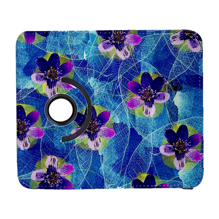 Purple Flowers Samsung Galaxy S  III Flip 360 Case