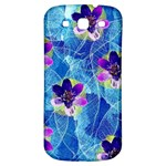 Purple Flowers Samsung Galaxy S3 S III Classic Hardshell Back Case Front