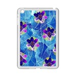 Purple Flowers iPad Mini 2 Enamel Coated Cases Front