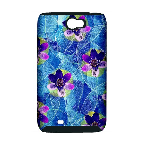 Purple Flowers Samsung Galaxy Note 2 Hardshell Case (PC+Silicone)