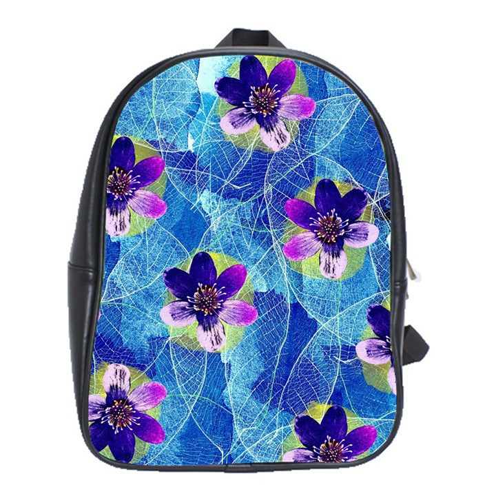 Purple Flowers School Bags (XL)