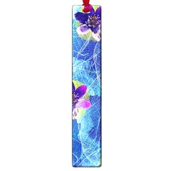 Purple Flowers Large Book Marks