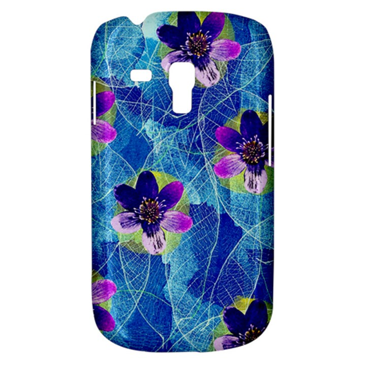 Purple Flowers Samsung Galaxy S3 MINI I8190 Hardshell Case