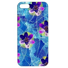 Purple Flowers Apple Iphone 5 Hardshell Case With Stand